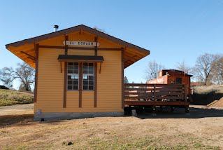 A DEPOT sits near the tracks of the El Dorado Western Railway in El Dorado. Democrat photo by Pat Dollins