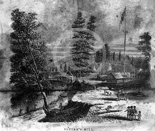 Sutter's Mill Etching, 1852